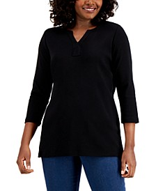 Cotton Split-Neck Tunic, Created for Macy's