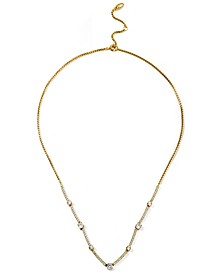 """Cubic Zirconia Bar Statement Necklace, 16"""" + 2"""" extender, Created for Macy's"""