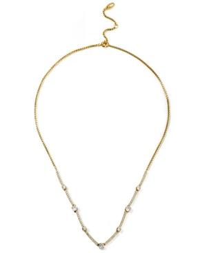 Cubic Zirconia Bar Statement Necklace