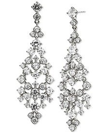 Silver-Plated Cubic Zirconia Chandelier Earrings, Created for Macy's