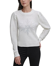 Embellished Snowflake Sweater