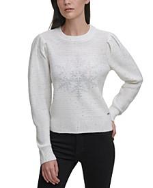 Embellished Snowflake Sweater