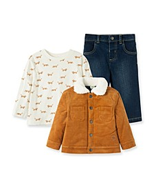 Baby Boys Corduroy Jacket with Pant Set