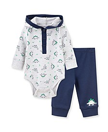 Baby Boys Dino Bodysuit Pant Set