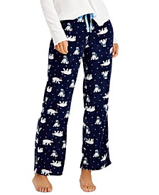 Printed Cozy Fleece Pajama Pants, Created for Macy's