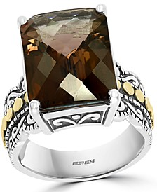 EFFY® Smoky Quartz Statement Ring (9-7/8 ct. t.w.) in Sterling Silver & 18k Gold-Plate