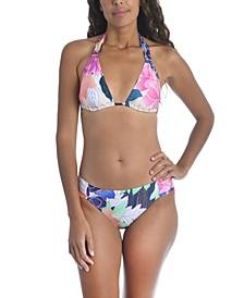 Opulent Oasis Printed Bikini Top & Printed Hipster Bikini Bottoms