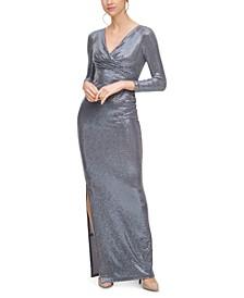 Sequin Side-Slit Gown