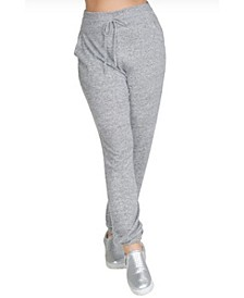 Women's Plus Size Cozy Drawstring Waist Joggers