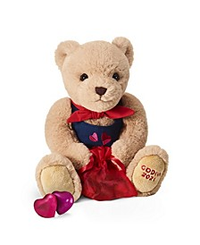 2021 Valentine's Plush Bear with Chocolate Hearts, 8-Pieces
