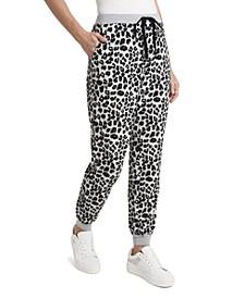 Women's Cozy Leopard Print Joggers