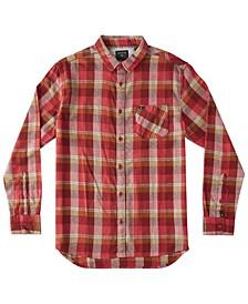 Men's Basic Fly Flannel Long Sleeve Shirt