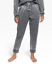 Juniors' Burnout Fleece Jogger Pants