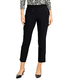 Petite Tummy-Control Pull-On Ankle Pants, Created for Macy's