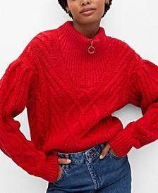 Women's Zip Knit Sweater