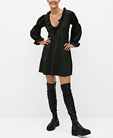 Women's Ruched Sleeve Dress