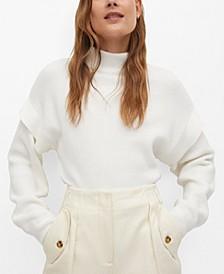 Women's Ruffled Sleeve Sweater