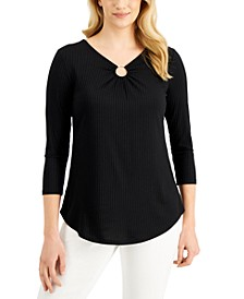 Ribbed Ring Top, Created for Macy's