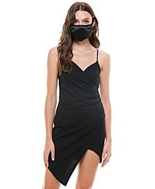 Juniors' Asymmetrical Dress & Face Mask