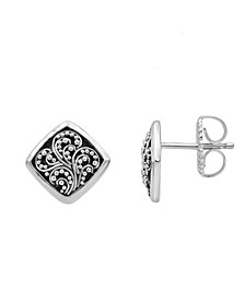 Filigree Stud Earrings in Sterling Silver
