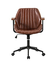 Leatherette Adjustable Swivel Desk Chair/Task Chair