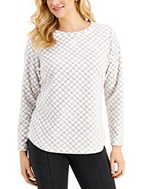 Printed Microfleece Top, Created for Macy's