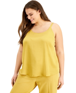 Bar Iii TRENDY PLUS SIZE TANK TOP, CREATED FOR MACY'S