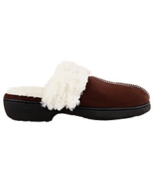 Isotoner Women's Microsuede Hilary Clog Comfort Slippers