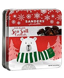 Holiday Dark Chocolate Sea Salt Caramel Tin, 16 oz