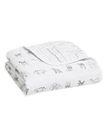 Essentials Cotton Muslin Blanket Sunshine Print