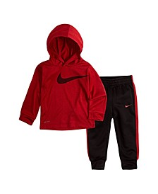 Baby Boys Hooded Shirt and Pants Set