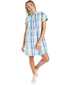Cotton Plaid Shirtdress, Created for Macy's