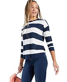Striped Crewneck Sweatshirt, Created for Macy's