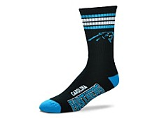 Carolina Panthers Youth 4 Stripe Deuce Crew Socks