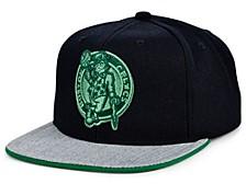 Boston Celtics Hardwood Classics Black Heather Flip Snapback Cap