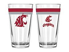 Washington State Cougars 16-oz. Double-Banded Pint Glass