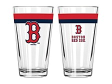 Boston Red Sox 16oz Double Banded Pint Glass