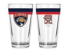 Florida Panthers 16oz Double Banded Pint Glass