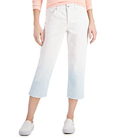 Petite Dip-Dyed Cropped Jeans, Created for Macy's