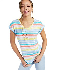 Stay Golden Striped Graphic T-Shirt, Created for Macy's