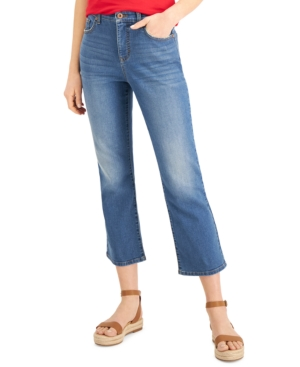 Style & Co Flared jeans PETITE KICK-CROP JEANS, CREATED FOR MACY'S
