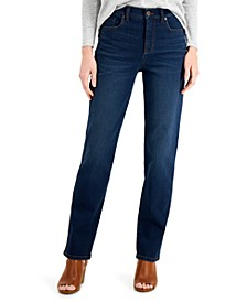 Straight-Leg Mid-Rise Jeans, Created for Macy's