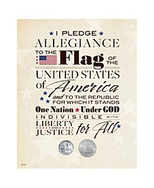Pledge of Allegiance Bicentennial Quarter and Half Dollar Matted Coin