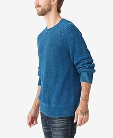 Men's Washed Crew Neck Sweater
