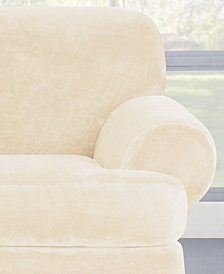 Sure Fit Stretch Plush 2-Piece T-Sofa Slipcover