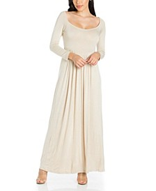 Women's Empire Waist Long Sleeve Maxi Dress