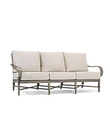 Winston Grayson Wicker Outdoor Sofa with Outdura ® Remy Sand Cushion, Created for Macy's