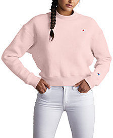 Champion Women's Mock-Neck Cropped Sweatshirt
