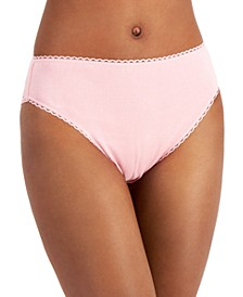 Everyday Cotton Women's High-Cut Brief Underwear, Created for Macy's
