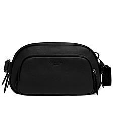 Men's Leather Black Hitch Belt Bag